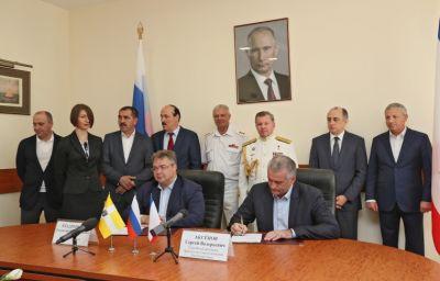 Руководителя Ставрополья иКрыма подписали договор осотрудничестве