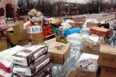 НаДонбассе встретили гуманитарную помощь отПятигорской епархии