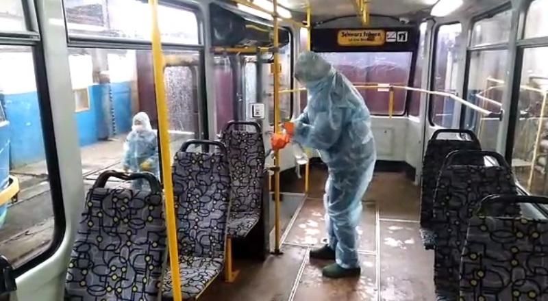 В Пятигорске ежедневно дезинфицируют пассажирский транспорт